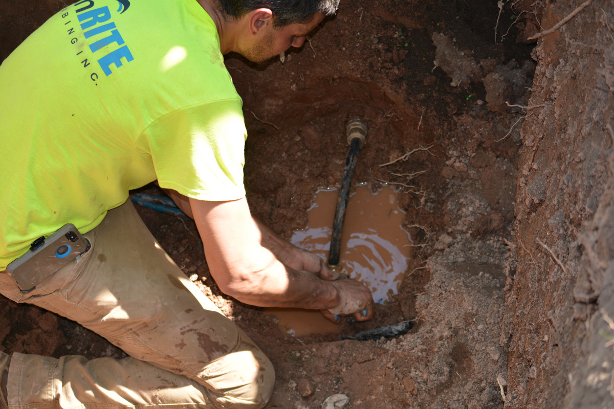 Connecting the New Water Line