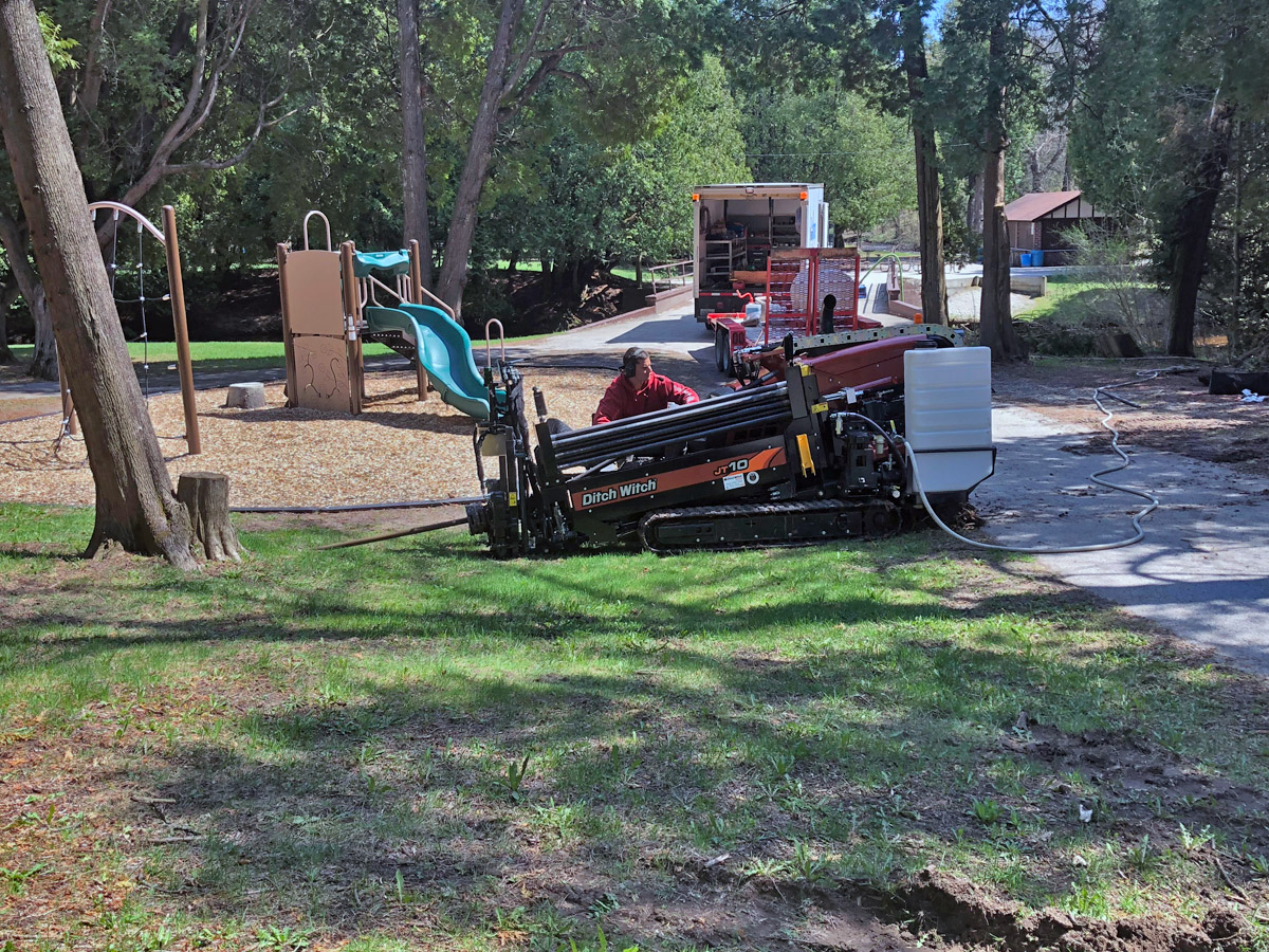 Directional Drilling in a Park